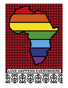 This is an illustration I created as a response to the idea that homosexuality is unafrican. As far as I am concerned, Love is universal. Love happens everywhere. Even in Africa.