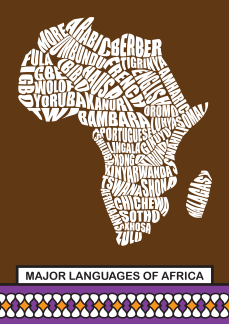 This illustration is of some languages in Africa, which can act as a barrier to our hearing each other.
