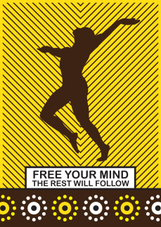 "This is an illustration on self-liberation. ""Free your mind, the rest will follow"". Enough said, right?"
