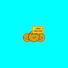 sticker post - I want a threesome